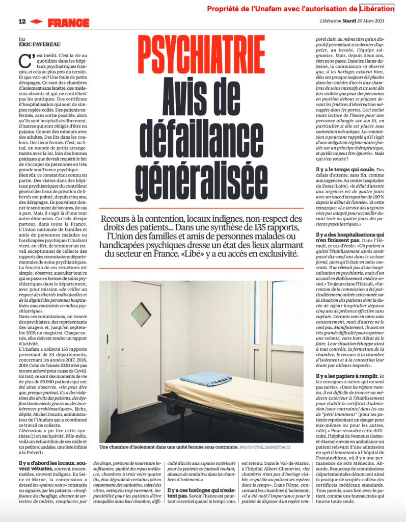 Article Unafam Libération